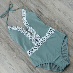 Floral Lace Push Up Swimsuit