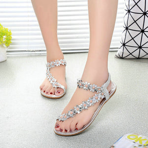Beaded and Jeweled Gladiator Summer Sandals