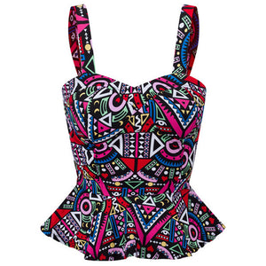 Bustier Printed Summer Crop Top