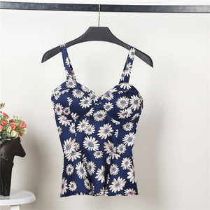 Bustier Sun Flower Summer Crop Top