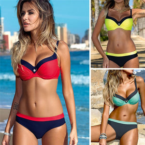 2-Piece Push Up Underwire Bikini Swimsuit