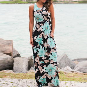Casual Floral Print Maxi Dress
