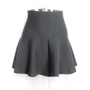 Knitted Pleated High Waist Mini Skirt