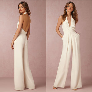 Sexy Deep V-Neck Backless Jumpsuit