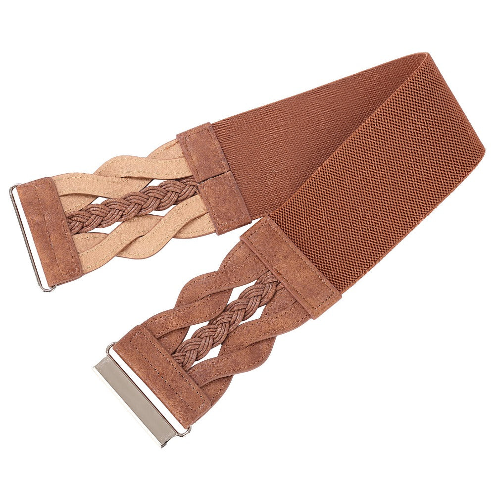 Ladies Autumn Wide Brown Belt and More