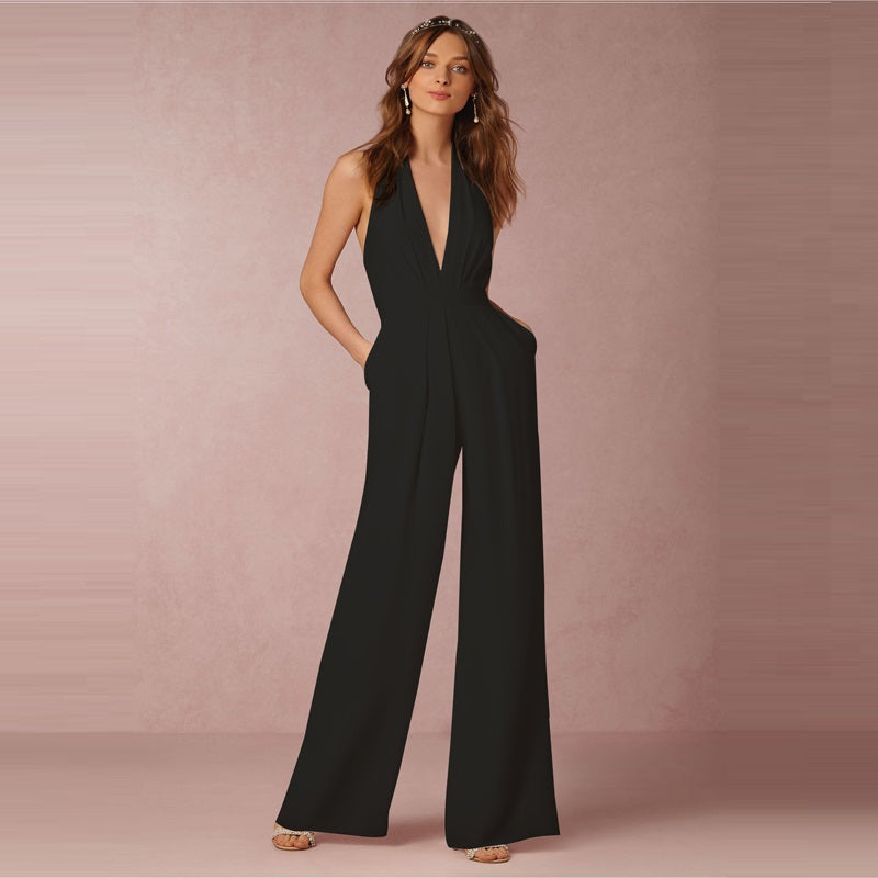 Sexy V-Neck Backless Jumpsuit