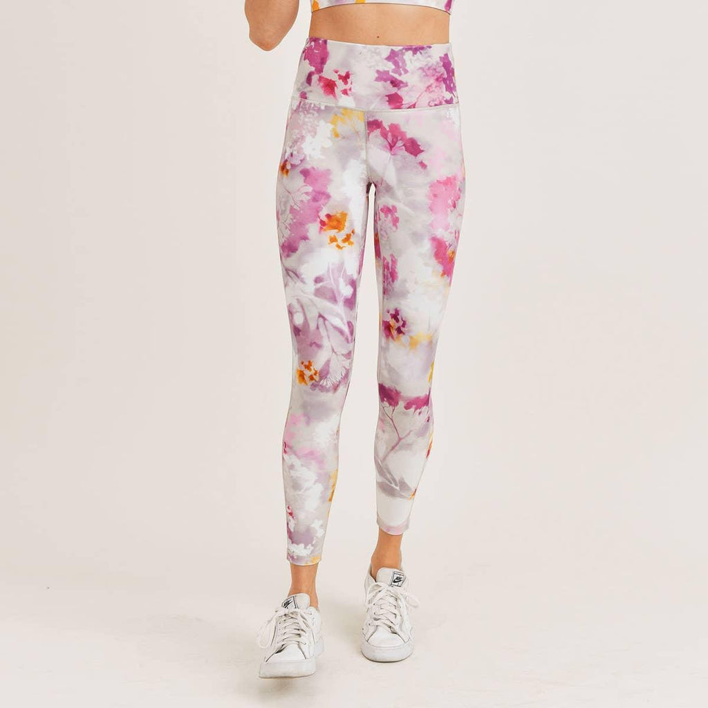 MONO B - Watercolor Floral Highwaist Leggings