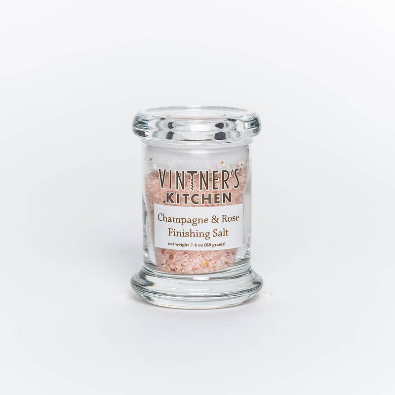 VINTNER'S KITCHEN - CHAMPAGNE & ROSE FINISHING SALT JAR