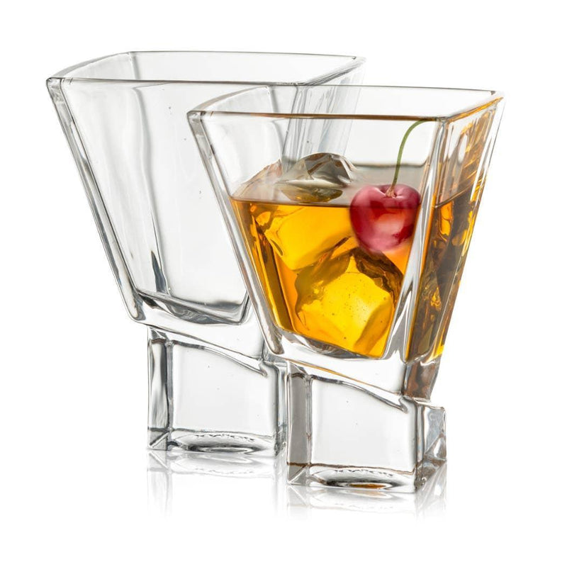 JOYJOLT - Carre Martini Cocktail Glasses SET OF 2