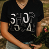 """SHOP LOCAL"" GRAPHIC TEE IN BLACK"