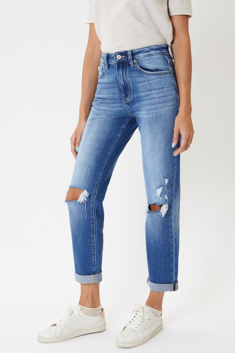 KANCAN RAVEN HIGH RISE, SLIM, STRAIGHT DENIM