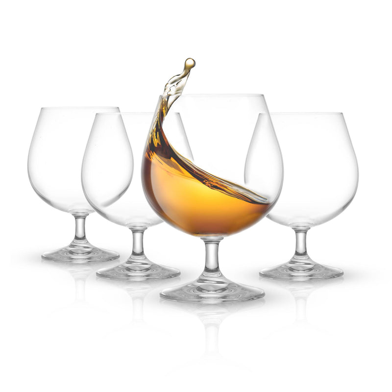 JOYJOLT - Cask Brandy Glasses, 13.5 Oz Set of 4