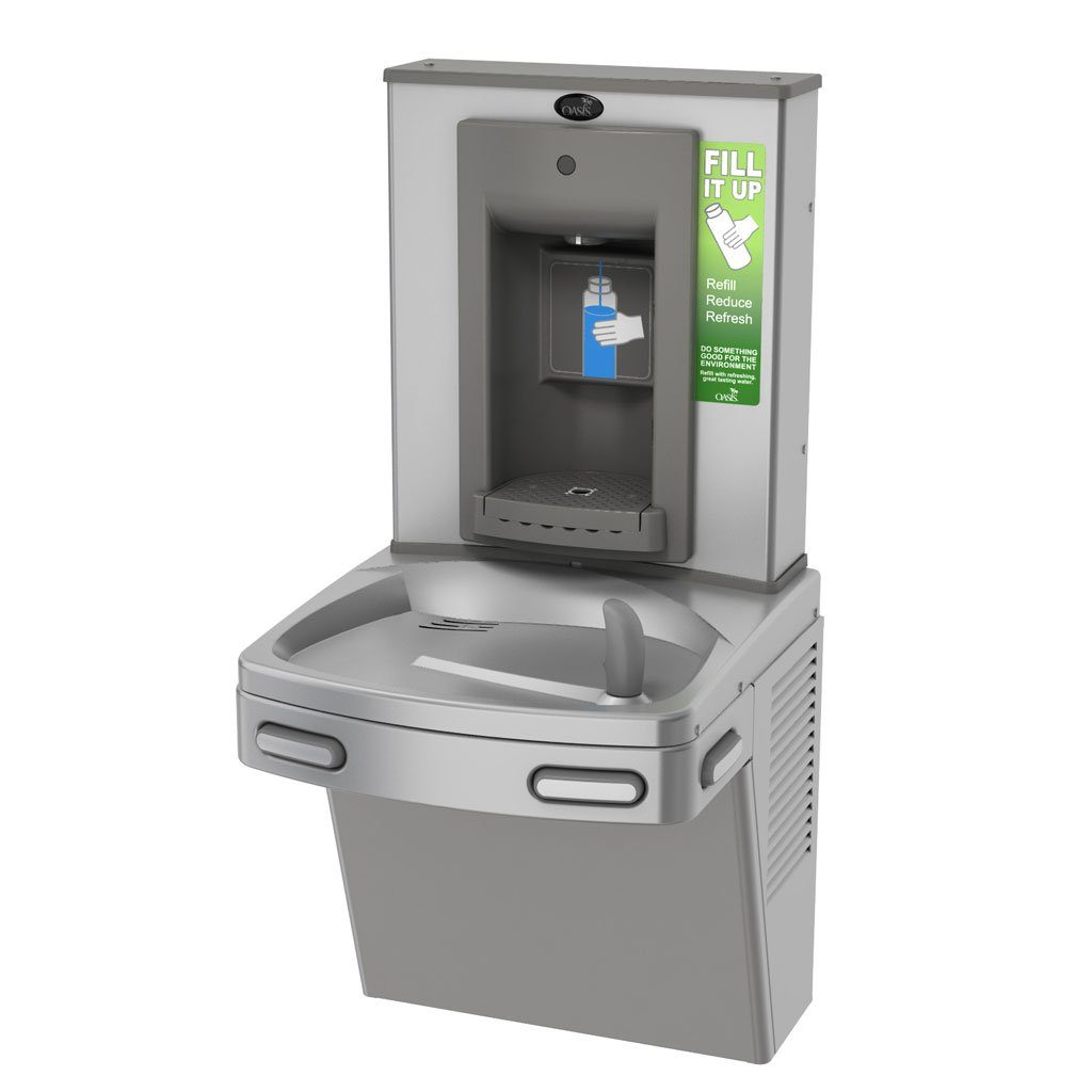 Bottle Filler with Water Cooler Stainless Steel ADA