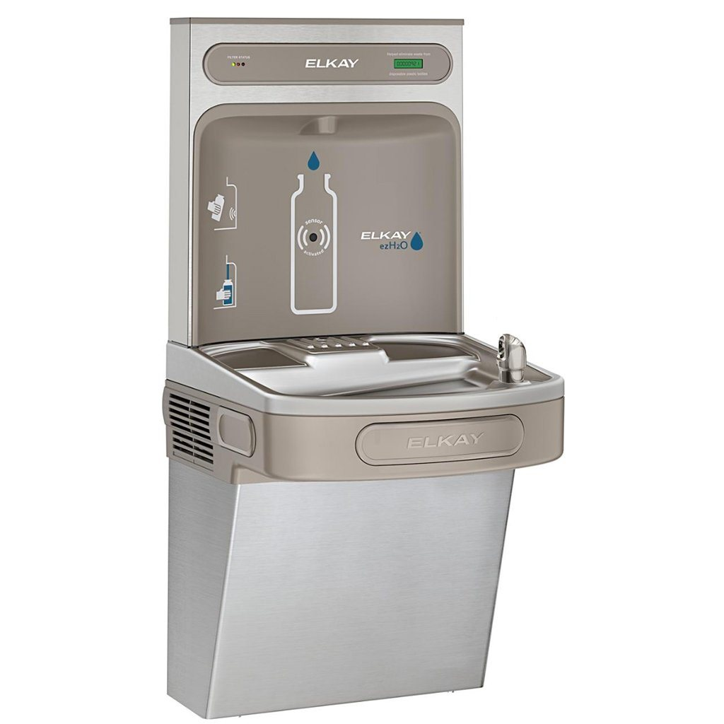 Elkay Bottle Filler and Water Cooler Combination Unit