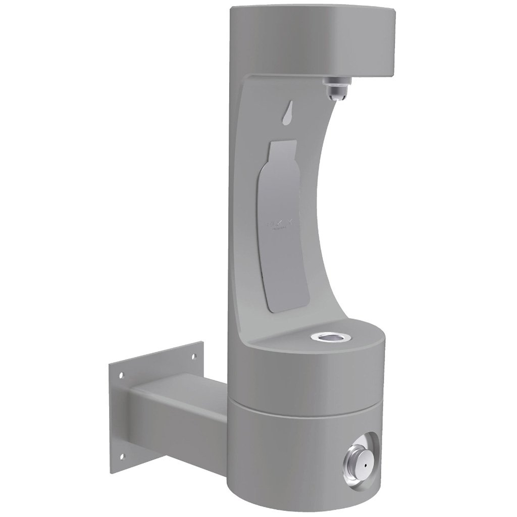 Elkay Outdoor Wall Mount EZH2O Bottle Filling Station Gray
