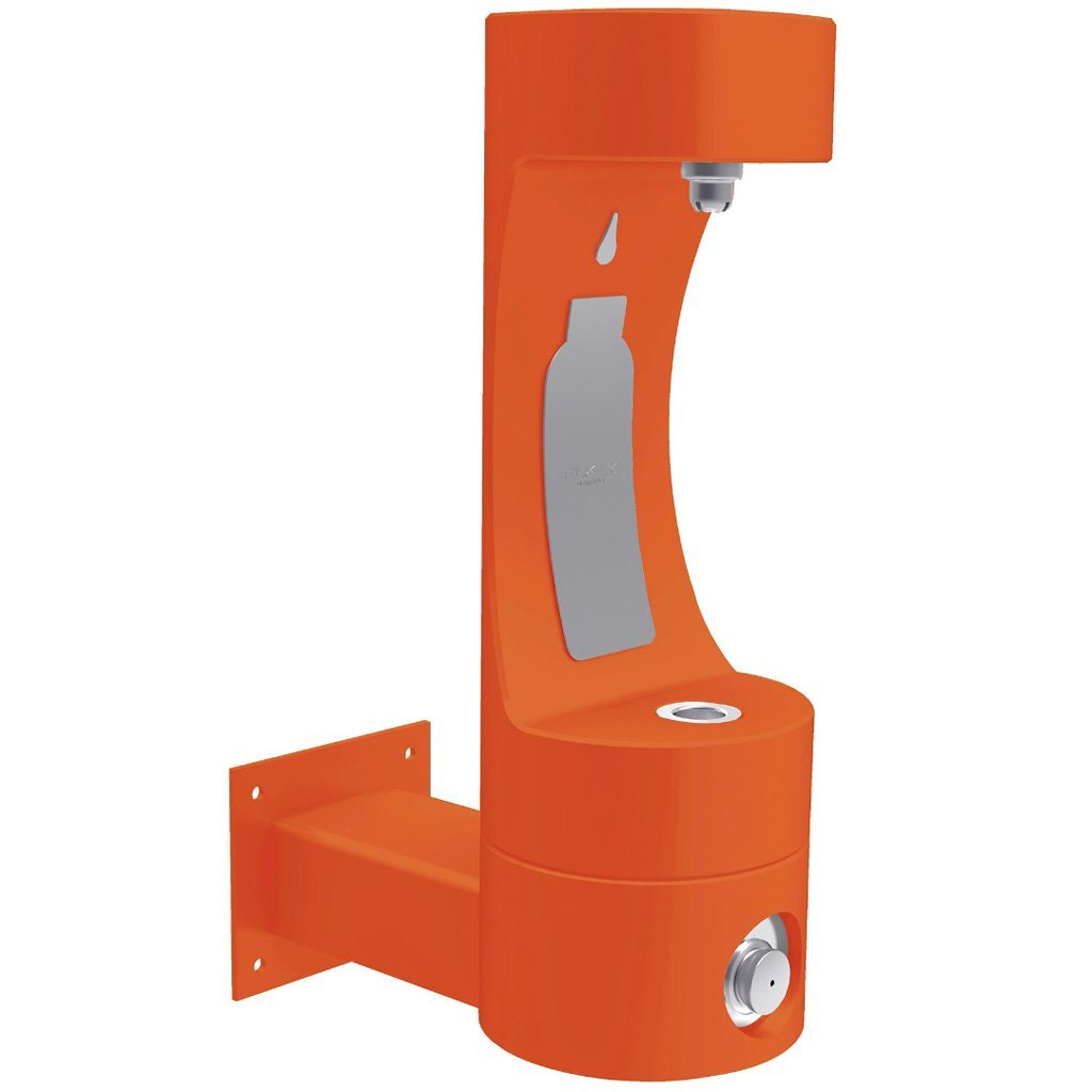 Elkay Outdoor Wall Mount EZH2O Bottle Filling Station Orange