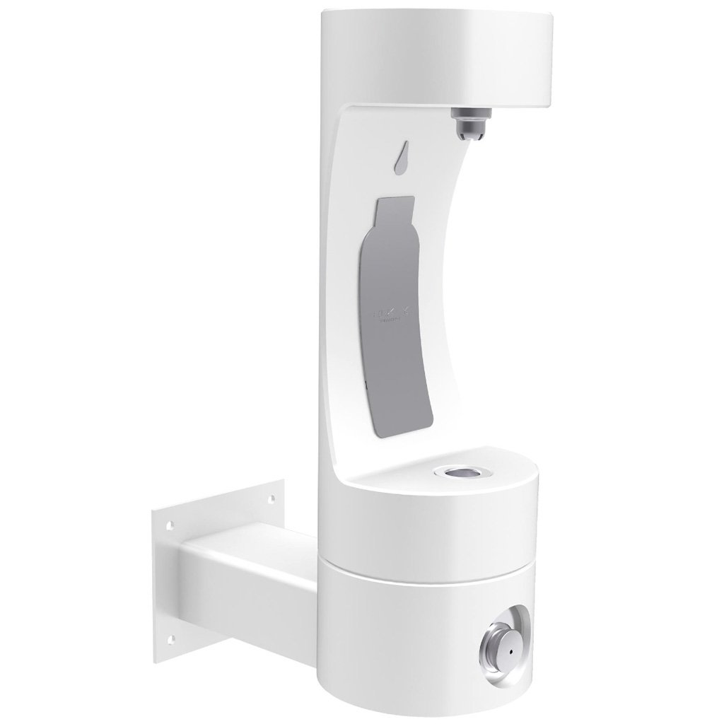 Elkay Outdoor Wall Mount EZH2O Bottle Filling Station White