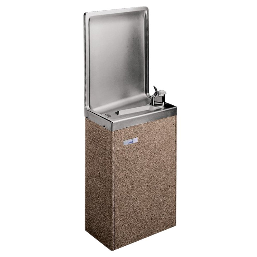 Oasis PLF8SM Simulated Semi-Recessed Wall Mounted Water Cooler Sandstone