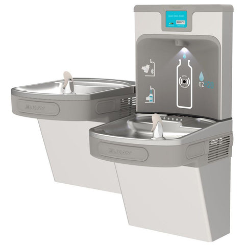 Filter Enhanced ezH2O Bottle Filling Station with Bi-Level ADA Cooler Light Gray