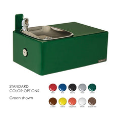 Barrier-Free Drinking Fountain 11 Gauge Steel with Smooth Green Powder Coat