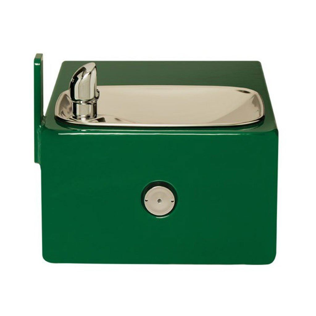 Haws Drinking Fountain 11 Gauge Steel with Smooth Green Powder Coat