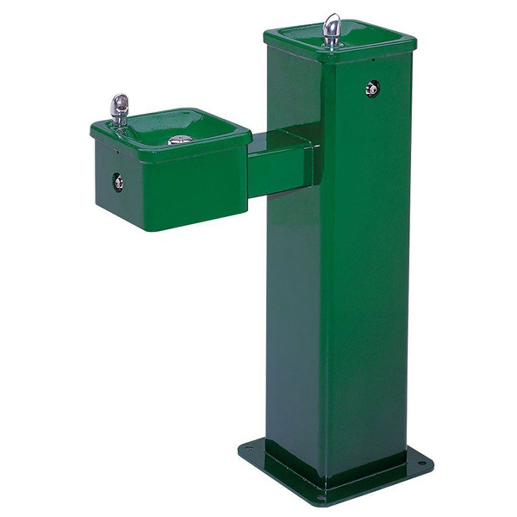 Freeze Resistant Bi-Level Square Haws Drinking Fountain
