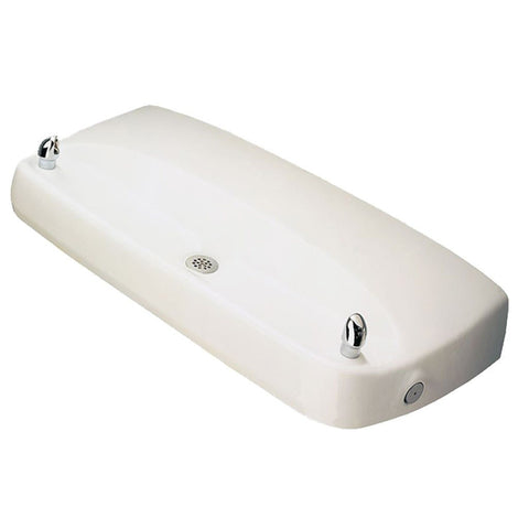 Haws Multi-User White Enameled Iron Drinking Fountain