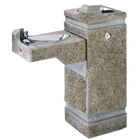 Haws Freeze-Resistant Bi-Level Outdoor Pedestal Drinking Fountain