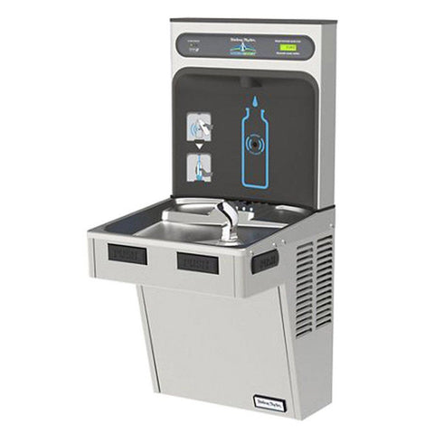 Halsey Taylor Stainless Steel Bottle Filling Station with Filtered ADA Cooler