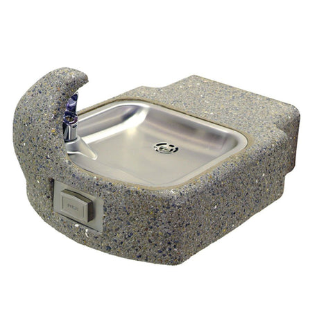 Murdock GVC59 Outdoor Wall Mount Drinking Fountain Concrete Aggregate