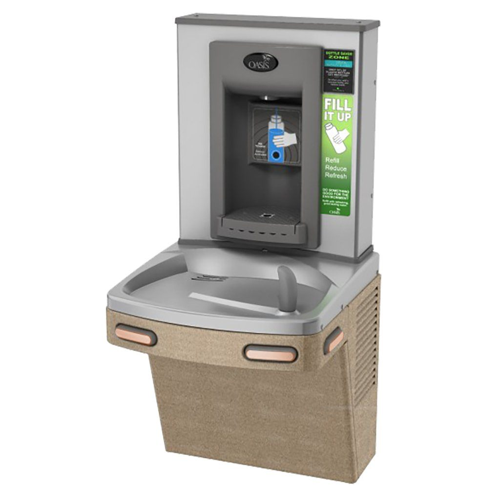 Oasis PGEBF Drinking Fountain with Sensor Bottle Filler Sandstone