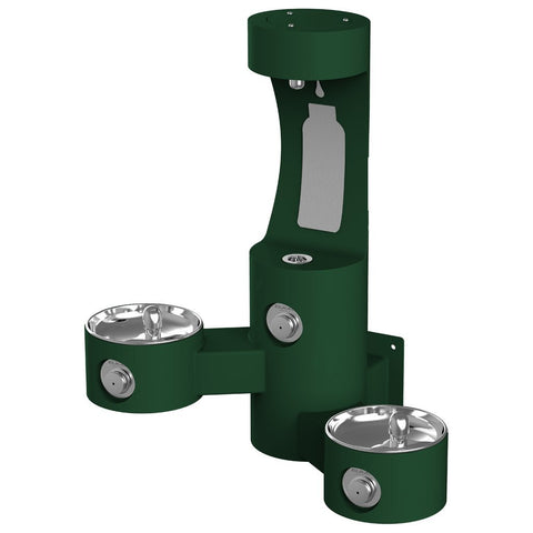 Elkay Outdoor Wall Mount Bottle Filler with Bi-Level Drinking Fountain