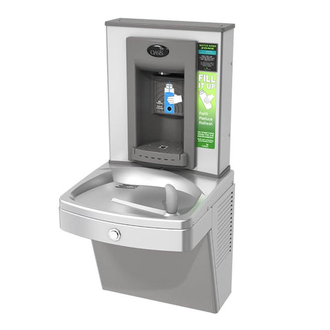 Oasis PGVEBF Drinking Fountain with Sensor Bottle Filler Stainless Steel