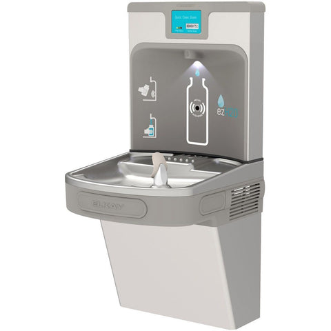 Elkay LZS8WSLP Enhanced ezH2O Water Cooler with Bottle Filler Light Gray