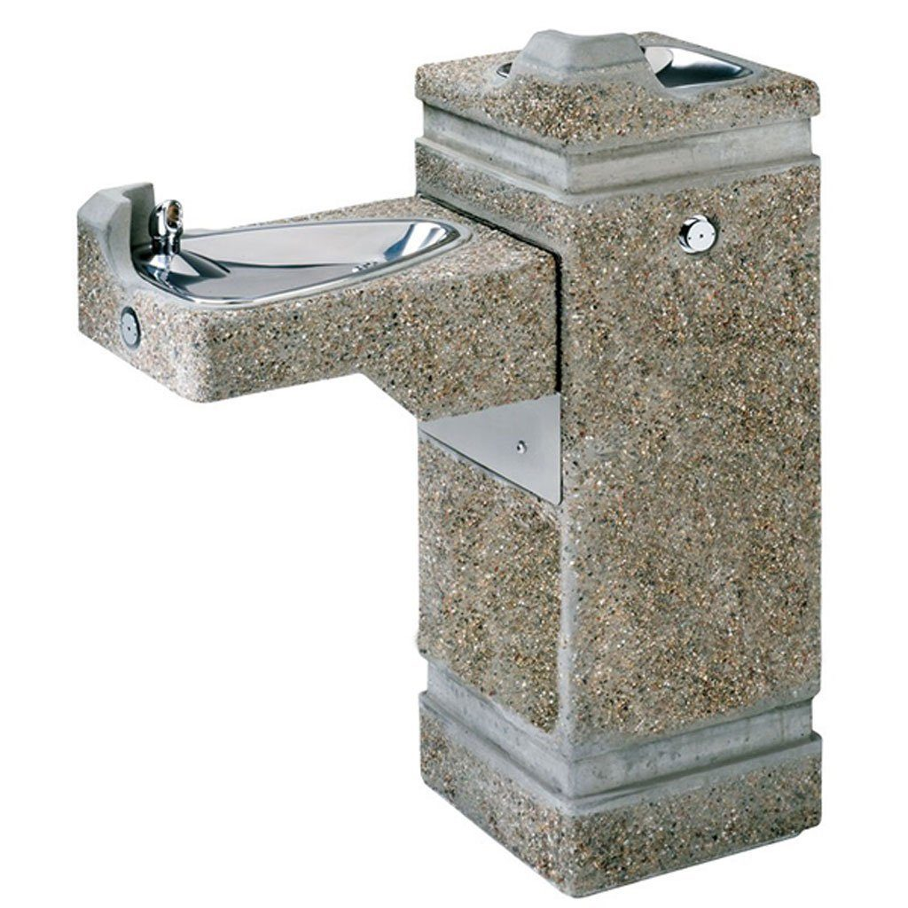 Haws Outdoor Stone Drinking Fountain