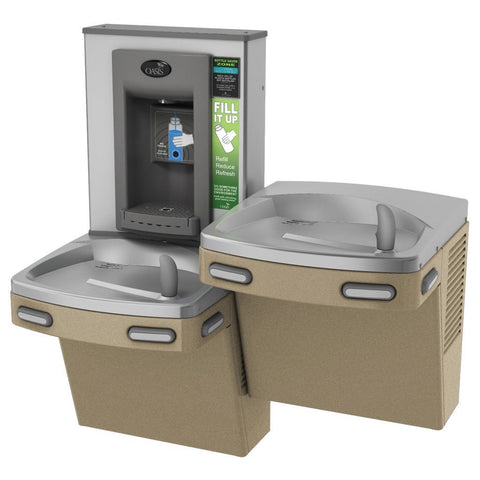 Oasis Electronic Bottle Filling Combo Bi-Level Barrier Free Water Cooler