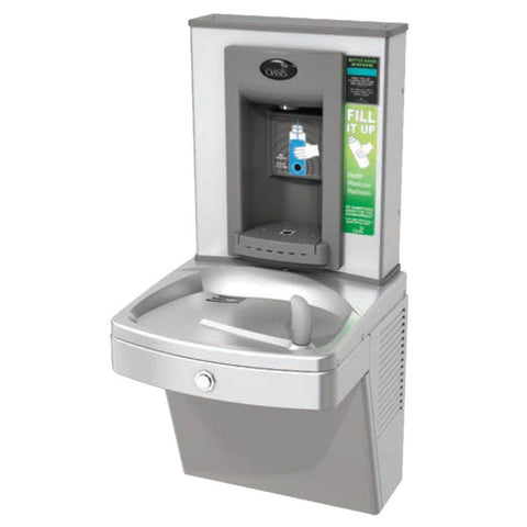 Oasis Electronic Bottle Filler with Vandal Resistant Barrier Free Water Cooler