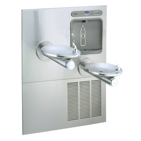 Elkay Two-Level Swirlflo Wall Mount Water Cooler and EZH2O Bottle Filler