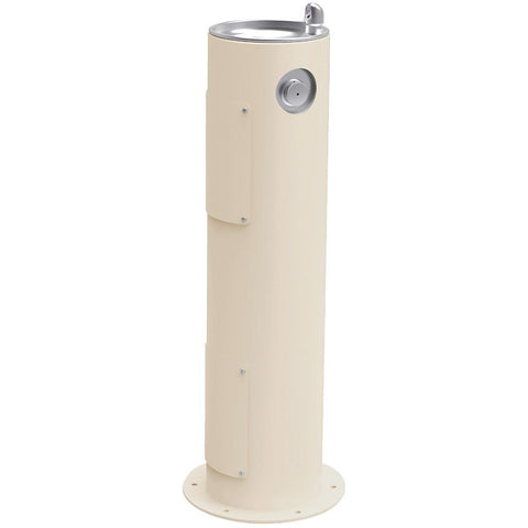 Elkay Outdoor Pedestal Drinking Fountain Beige