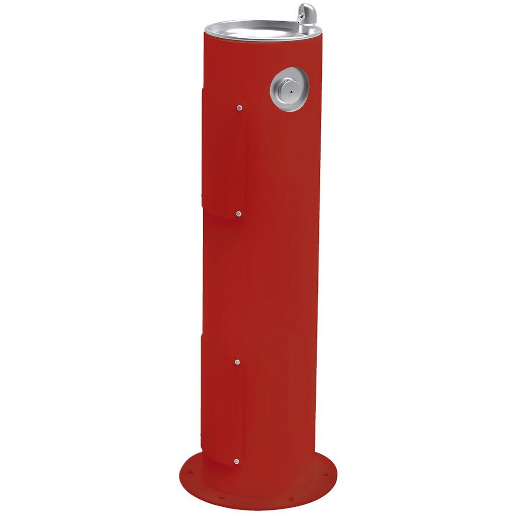 Elkay Outdoor Pedestal Drinking Fountain Red