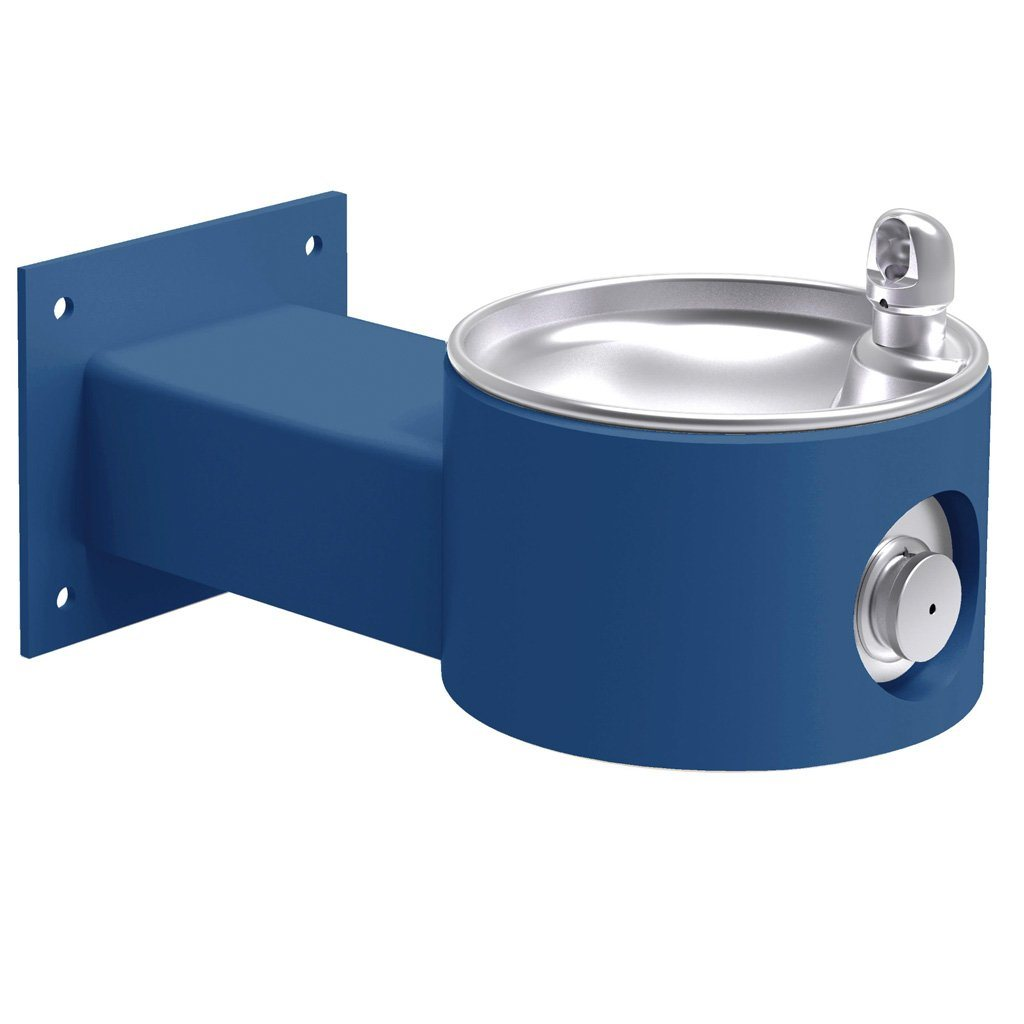 Elkay Outdoor Wall Mount Drinking Fountain Blue