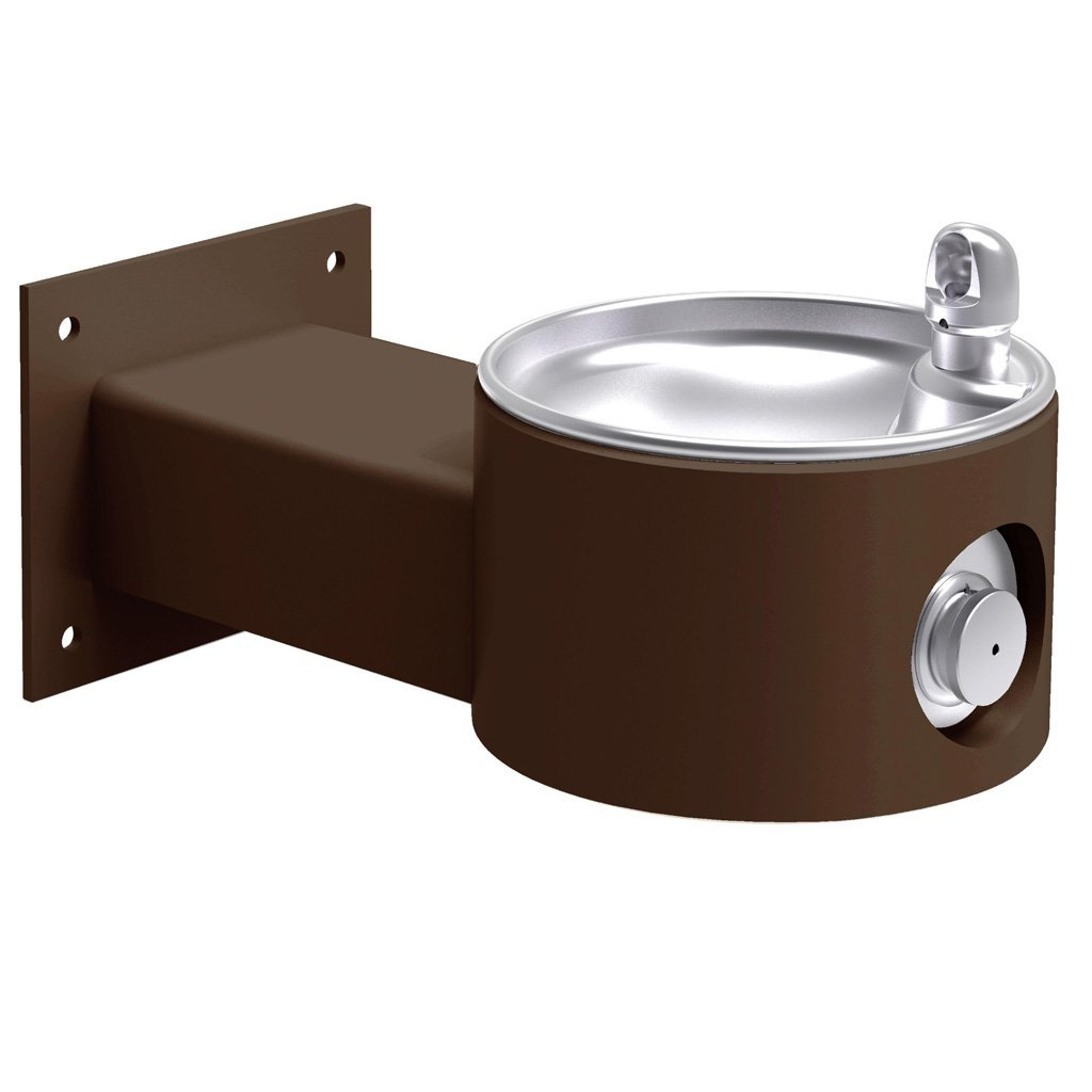 Elkay Outdoor Wall Mount Drinking Fountain Brown