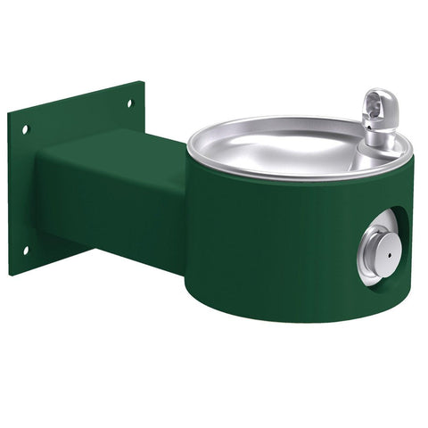 Elkay Outdoor Wall Mount Drinking Fountain Evergreen