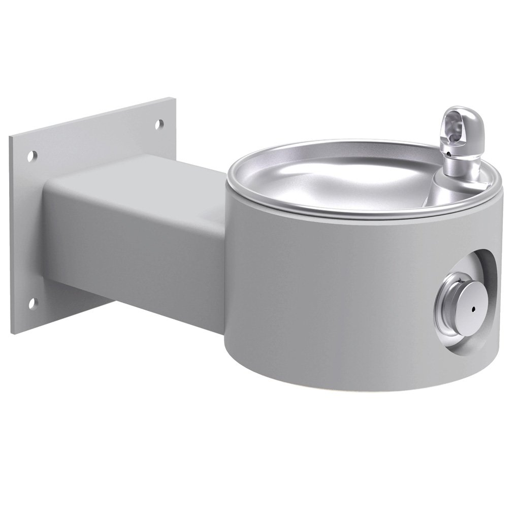 Elkay Outdoor Wall Mount Drinking Fountain Gray