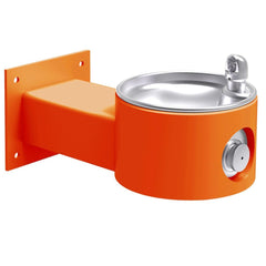 Elkay Outdoor Wall Mount Drinking Fountain Orange
