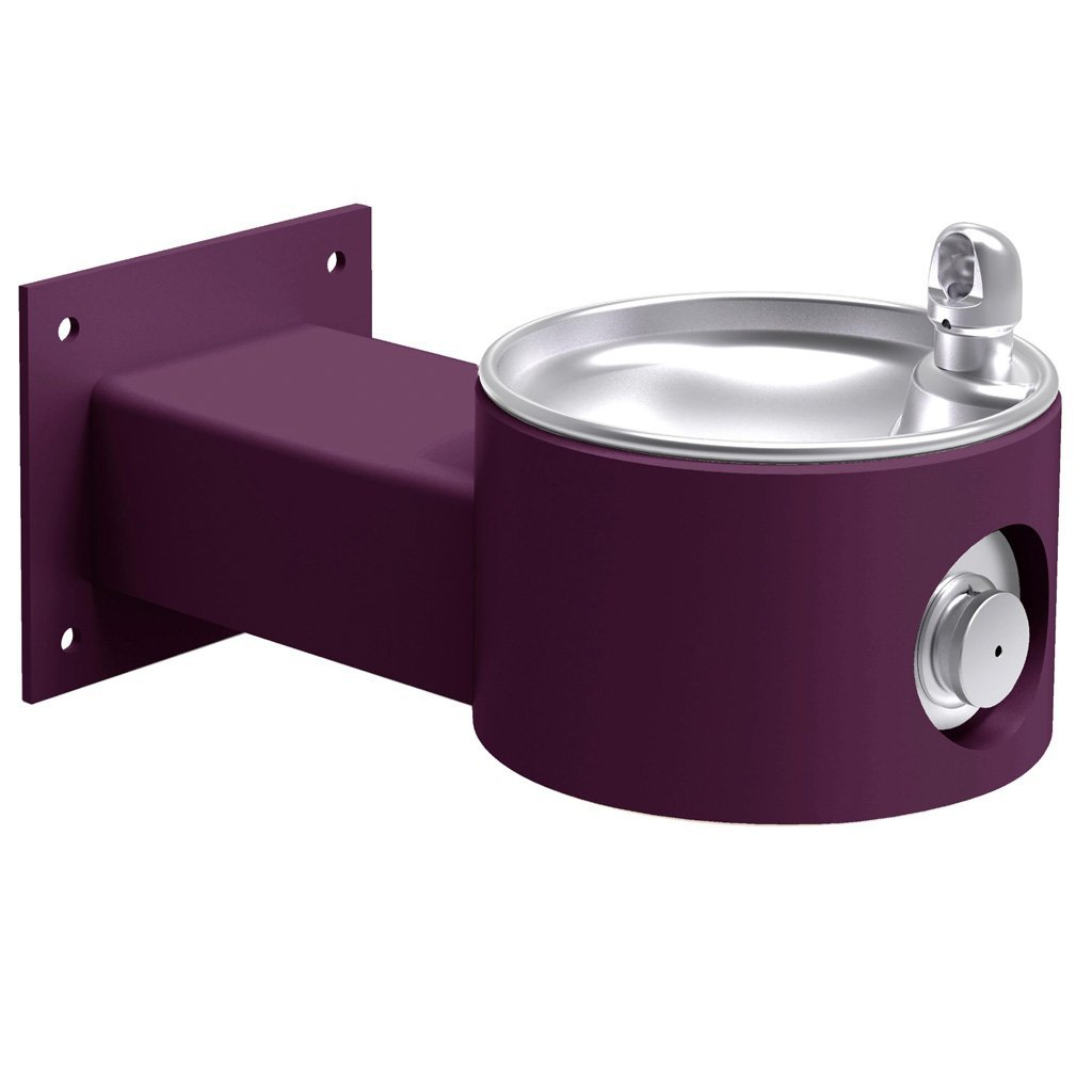 Elkay Outdoor Wall Mount Drinking Fountain Purple