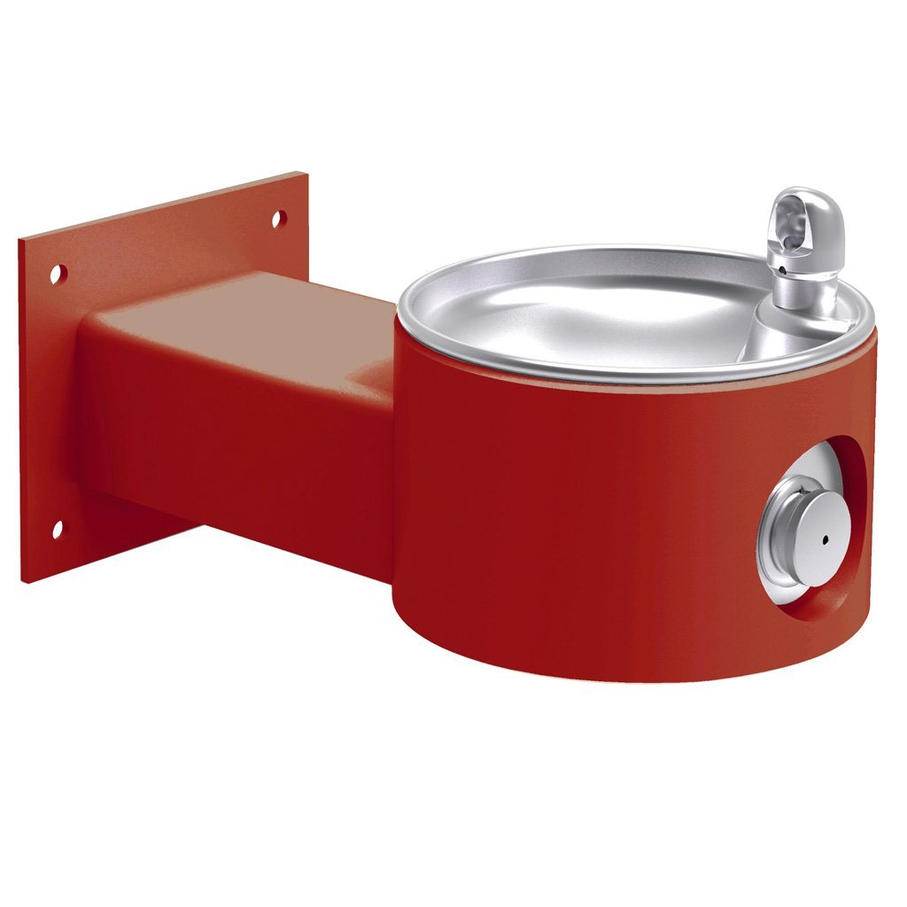 Elkay Outdoor Wall Mount Drinking Fountain Red