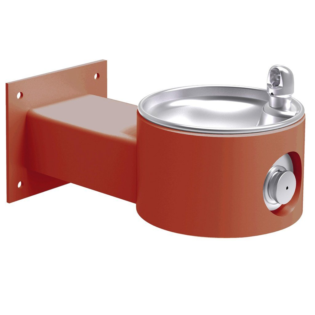 Elkay Outdoor Wall Mount Drinking Fountain Terracotta