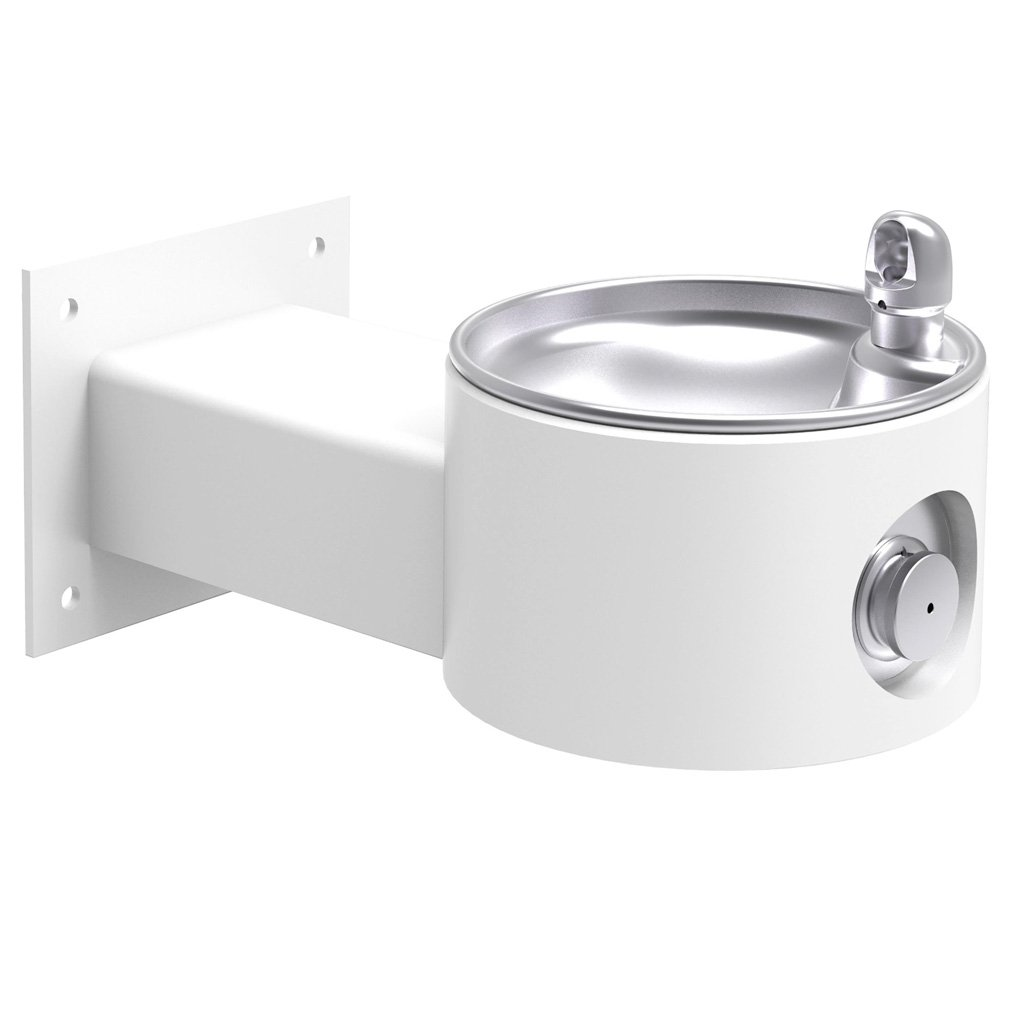 Elkay Outdoor Wall Mount Drinking Fountain White
