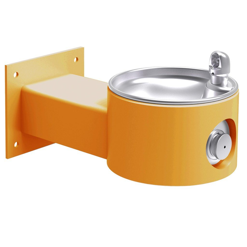 Elkay Outdoor Wall Mount Drinking Fountain Yellow